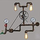 TXDZ Vintage retro loft industrielle licht persönlichkeit Starke eisen gang wandleuchten wasserpfeife Restaurant Bar pub Cafe Fahrrad kette gang schlafzimmer bh wandleuchte