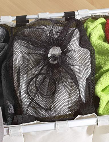 Wenko 3440113100 Wäschesammler Trio Beige – Wäschekorb, Fassungsvermögen 130 L, 100% Polyester, 63 x 57 x 38 cm, beige - 4