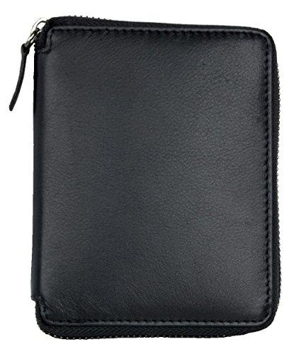 Portafoglio di dimensioni piccola tasca realizzato in vera pelle con