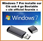 windows 7 pro avec licence + cl� usb...