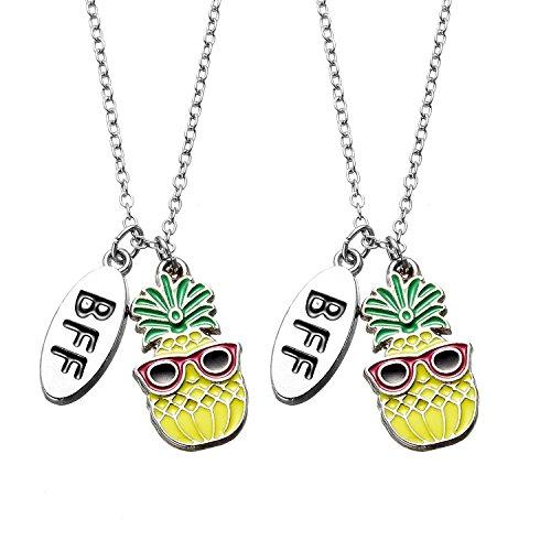 Ananas-set (Freundschaftskette Best Friends Ananas BFF Halskette Set für 2 Mädchen)