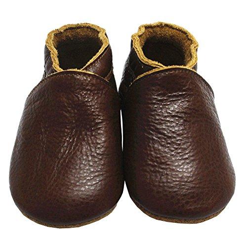 Wärmen Sie Ihre Füße (Mejale Premium Weiche Leder Lauflernschuhe Krabbelschuhe Babyschuhe Mokassin)