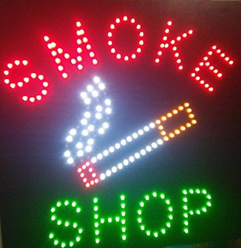 Chenxi LED-Schild, quadratisch, für Smoke Shop/Eis / Schmuck Store offen, Neonfarben, 48 x 48 cm Modern 48 X 48 CM Smoke Shop