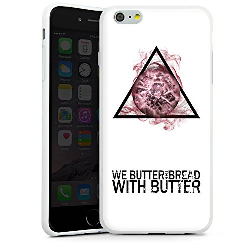 Apple iPhone X Silikon Hülle Case Schutzhülle We Butter The Bread With Butter Fanartikel Merchandise Apocalypse Silikon Case weiß