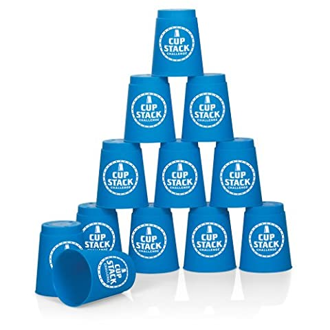 Cup Stack Challenge - set of 12 sturdy plastic cups