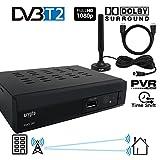 Crypto Redi 260PHA 1080P Full HD 1080 P DVB-T2 Tnt Décodeur HD avec Dolby, Full Multimedia H.264 /...