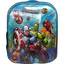3D Avengers Spiderman Doraemon Dorimon Red & Blue Children's / kid's Backpack, school bag for class / standard Play School, Pre Nursery, Nursery, KG, UKG, LKG class for boys & girls 8 Liter, 13 Inch. For children ages 2 to 5 years