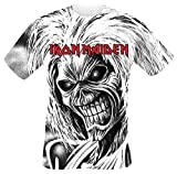 Iron Maiden Killers Allover Camiseta Blanco L