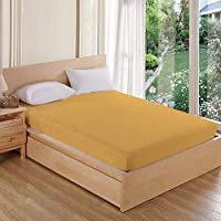 "AVI Terry Cotton Mattress Protector (Small 36""x72""Inches_Beige)"