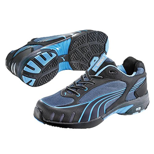 Puma Safety Shoes Fuse Motion Blue Wns Low S1 HRO, Puma 642820-256 Damen Sicherheitsschuhe, Schwarz (schwarz/blau 256), EU 35 (Low Lackleder Heel)