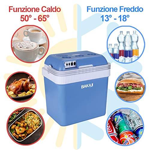 Small srl Mini Frigo Portatile Elettrico Blue Termos 24L 12V 220V Funzione Caldo Freddo Frigorifero per Auto Casa Mare Campeggio Barca Camper