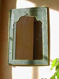 Maroque Grand miroir marocain traditionnel en laiton