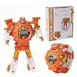 AOTE-D Kinderuhrprojektion Cartoon Verformung Toy Glow Elektronische Uhr Roboter,A