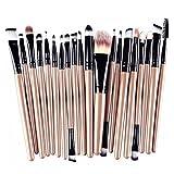 Hosaire 20PCS/Lot Pinceaux Maquillage Trousse Brush Cosmétique pour Eyeliner Lip fondation poudre highlighting concealer eyeshadow Maquillage Brushes Set de ensemble complet d'outils à brosse cosmétiques-Noir