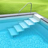 SAXONICA Pool Treppe Eleganz 60 Leiter Randbefestigung lang meerblau