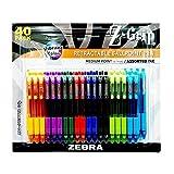 Zebra Kugelschreiber Einziehbarer Stift sortiert Farbe Fine Point Spitze, 40Stifte Pro Packung 0,7mm Edelstahl