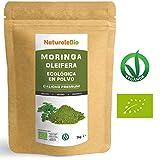 Moringa Oleifera Ecologica en Polvo [Calidad Premium] de 1kg | Moringa Powder Organica, 100% Bio, Natural y Pura | Hojas Recogidas de la Planta de Moringa Oleífera | Superfood Rico en Antioxidantes.