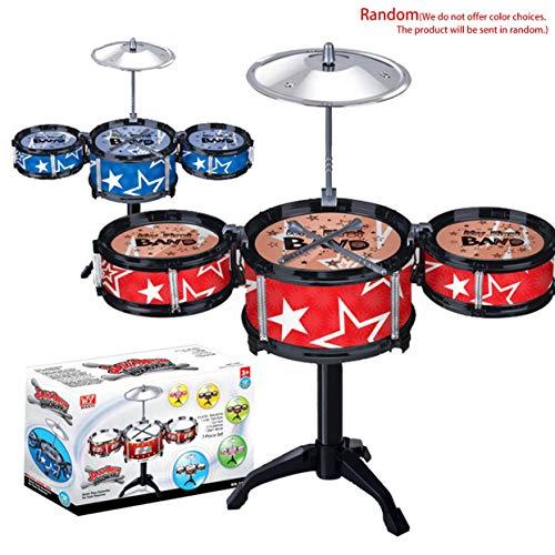Tree-on-Life Simulation Instrument de Musique Jouet 3 Tambours Jazz Drum Kit avec Baguettes étagère Musicale Jouet éducatif pour Enfants