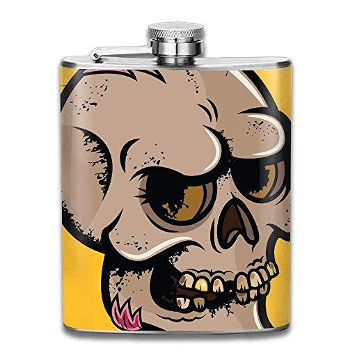 Hip Flask For Liquor Men's Halloween Skull Stainless Steel Bottle Unisex
