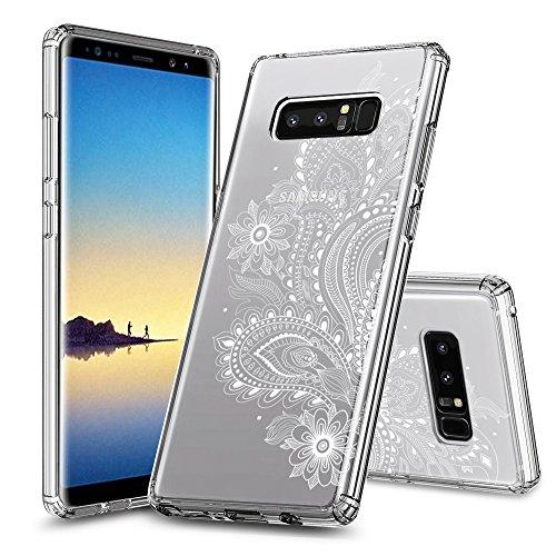 Samsung Galaxy Note 8 Hülle ZUSLAB [Schlank Hybride] Schutzhülle mit Luftkissen und Punktierter Puffer, Ultra dünn, Blume Design für Samsung Galaxy Note 8 (2017) -