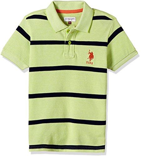 US Polo Boys' T-Shirt (UKTS6314_Light Green _36THS)