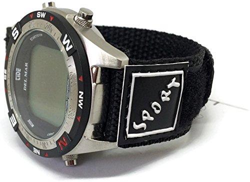 Negro Velcro correa para reloj 14mm con anillo de acero inoxidable