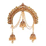 I Jewels Gold Plated Jhumki Hair Accessory Juda Pin With...