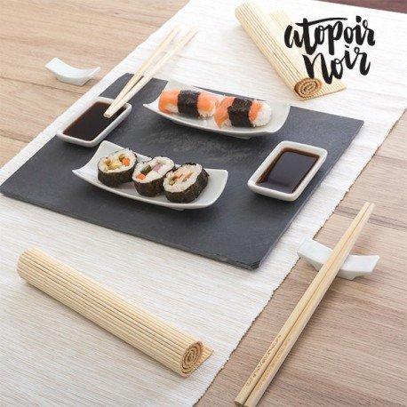 Mazali–Juego para sushi, piedra, multicolor, 11piezas