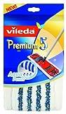 Vileda 140782 Premium 5 Aqua Power Wischbezug - einfach und schnell reinigen - extrabreite Wischfläche - für die extra feuchte Reinigung von Fliesen etc.