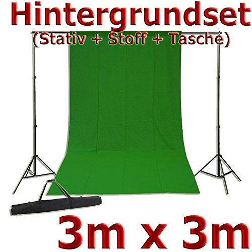Greenscreen Fotostudio Set mit Hintergrundstativ + Stoff