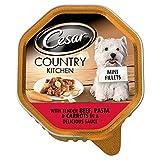 Cesar Land Hühnerfilets In Mini- Soße Mit Zarten Rindfleischscheiben , Nudeln Und Karotten - Folienschale (150 G)