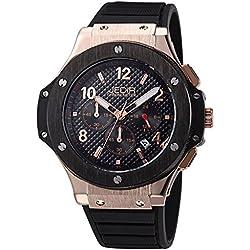 YPS Men Sport Silicone Strap Multifunction Dial Calendar Luminous Hands Quartz Wristwatch WTH5379