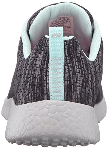 Skechers Burst New Influence, Baskets Basses Femme Noir (Bklb Noir/Bleu Clair)