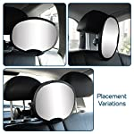 Baby Car Mirror - Highest Stability | Clamp Design | Quick Installation | 100% Shatterproof | Easily Adjustable | PREMIUM QUALITY  Baby Car Mirror – 100% Shatterproof 51n 2B7fBAzRL