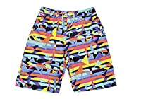 Boys Tom Franks Fun Print Summer Beach Shorts With Mesh Liner Aztec 10-11