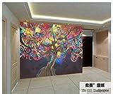 Tantoto Fototapete 3D Umweltschutz Europäischen Großen Fresko Bar Ktv 3D Fototapete 3D Coffee Shop Tapete Abstrakten Shake Qian Shu Wandmalereien