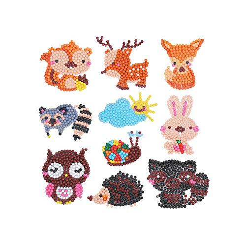 TIREOW 5D DIY Diamant Malerei Kits Kinder und Erwachsene Anfänger Stick Paint Wandzeichnung Bild für Kinderzimmer Junge Mädchen (Malerei-kit Für Anfänger)