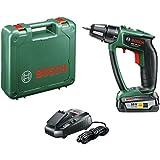 "Bosch Perceuse-visseuse ""Expert"" sans fil PSR 18 LI-2 Ergonomic 1 batterie 18V 2,5 Ah, technologie Syneon 06039B0100"