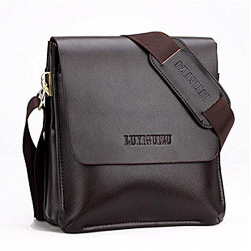 Daditong Männer Echtes Leder Handtasche Schultertasche Messenger Bag Aktentasche iPad Mini Vertical
