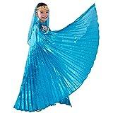 Ägyptisches Bauchtanz-Kostüm in Flügel-Design für Mädchen Gr. Einheitsgröße, hellblau