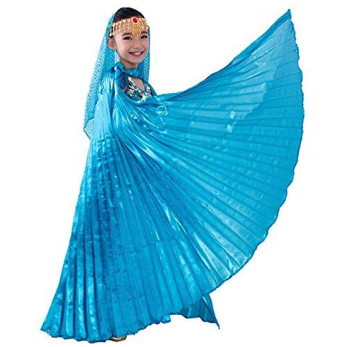 Ägyptisches Bauchtanz-Kostüm in Flügel-Design für Mädchen Gr. Einheitsgröße, -