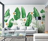 (140X70CM), Alte Zeitung 3D tapete - Frisches Grün gepflanzt Nordic Wind Bananenblatt - Wallpaper Poster Wanddekoration von Bestwind