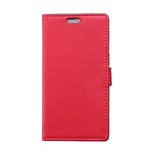 Voguecase® Per Huawei G Play Mini (Honor 4C) Elegante borsa in pelle Custodia Case Cover Protezione chiusura ventosa (rosso / modello del litchi) Con Stilo Penna