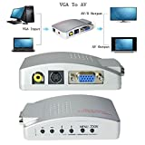 PC Laptop VGA to Video AV TV S-Video box...