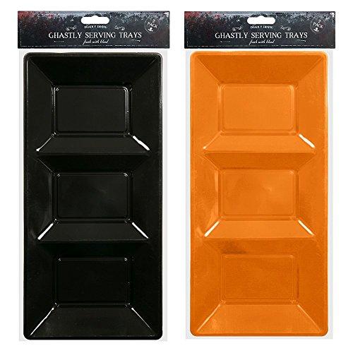 Serviertablett platter- für Buffet, Party oder Trick oder treat-, grün, lila, orange oder schwarz Farbe zufällig (Halloween-farben Lila)