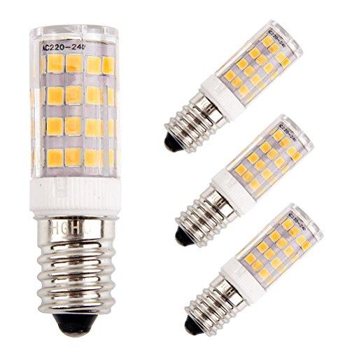 LED E14 dunstabzugshaube Lampe, 5W Ersatz für 35W Halogenlampen, Warmweiß 3000K, 220-240V 400lm, 4er-Pack