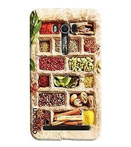 Omnam Desi Masala Printed Designer Back Cover Case For Asus Zenfone Go