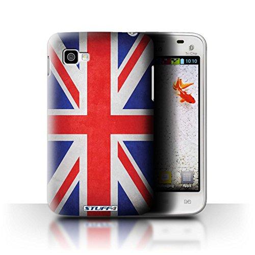 Stuff4® Hülle/Case für LG Optimus L4 II Tri/E740 / Großbritannien/Britische Muster/Flagge Kollektion