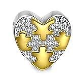 NinaQueen Amore Ciondolo da donna argento sterling 925 per pandora charms bracciale Regalo compleanno natale san valentino festa della mamma Regali anniversario per moglie madre sposa immagine