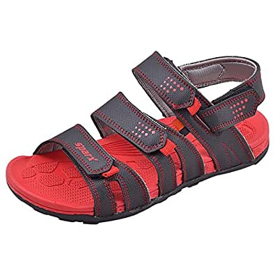 Sparx Men's Casual Wear Black and Red Coloured Floaters Size 7 UK - SS434-BlackRed-7
